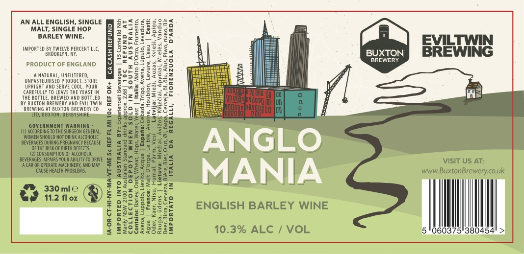 Buxton / Evil Twin Anglomania All English Barley Wine