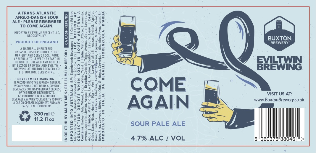 Buxton / Evil Twin Come Again Sour Pale Ale