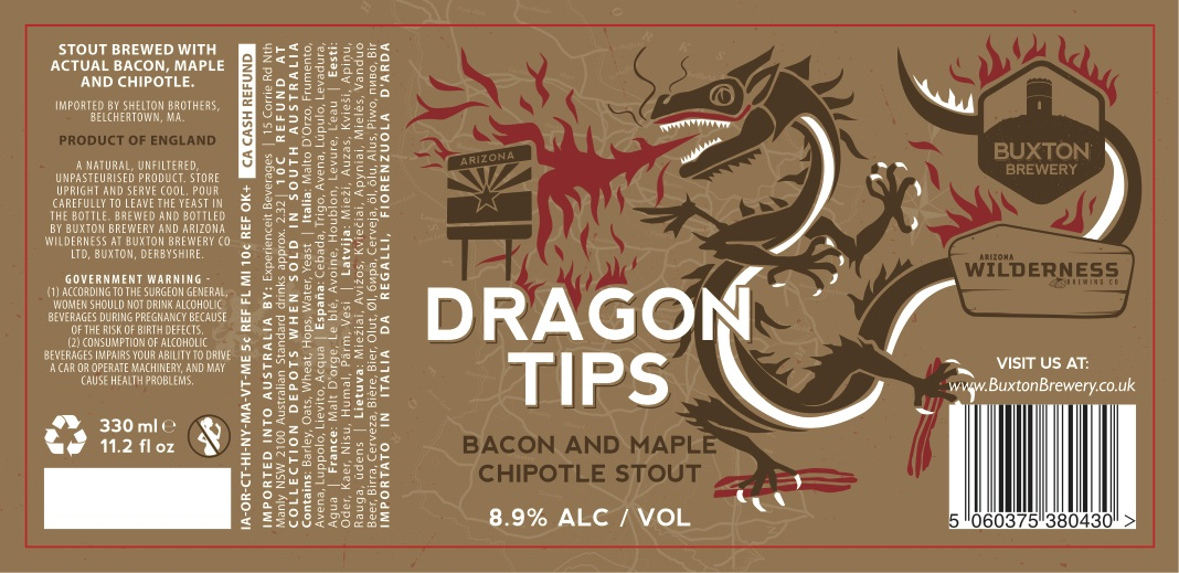 Buxton / Arizona Wilderness Dragon Tips Bacon, Maple and Chipotle Stout